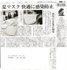 中日新聞掲載紙面